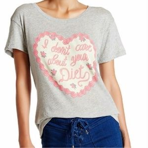 "Wildfox ""I Don't Care About Your Diet"" graphic tee"